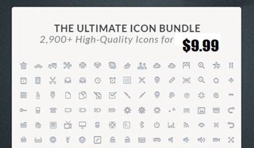 Pay for The Ultimate Icon Bundle 2,900+ High-Quality Icons