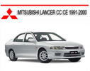 Thumbnail MITSUBISHI LANCER CC CE 1991-2000 WORKSHOP SERVICE MANUAL