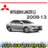 Thumbnail MITSUBISHI LANCER CJ 2008-2013 WORKSHOP SERVICE MANUAL