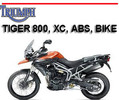 Thumbnail TRIUMPH TIGER 800 XC ABS BIKE SERVICE & OWNER MANUAL