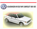 Thumbnail VOLKSWAGEN VW GOLF MK1 CABRIOLET 1985-1993 REPAIR MANUAL