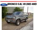Thumbnail FORD BRONCO 5.8L V8 2WD 4WD 1980-1986 REPAIR MANUAL