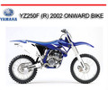 Thumbnail YAMAHA YZ250F (R) 2002 ONWARD BIKE REPAIR SERVICE MANUAL