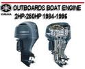 Thumbnail YAMAHA OUTBOARDS BOAT ENGINE 2HP-250HP 1984-1996 MANUAL