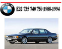 Thumbnail BMW E32 735 740 750 1988-1994 SERVICE REPAIR MANUAL