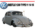 Thumbnail VOLKSWAGEN VW BEETLE 1200 TYPE 11 14 15 REPAIR MANUAL