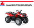 Thumbnail SUZUKI OZARK 250 LTF250 2003-2009 ATV REPAIR SERVICE MANUAL