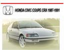Thumbnail HONDA CIVIC COUPE CRX 1987-1991 REPAIR SERVICE MANUAL