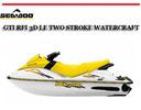 Thumbnail SEA-DOO GTI RFI 3D LE TWO STROKE WATERCRAFT REPAIR MANUAL