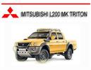 Thumbnail MITSUBISHI L200 MK TRITON 2WD-4WD UTE 1997-02 REPAIR MANUAL