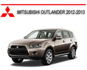 Thumbnail MITSUBISHI OUTLANDER 2012-2013 WORKSHOP REPAIR MANUAL