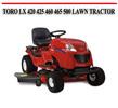 Thumbnail TORO LX 420 425 460 465 500 LAWN TRACTOR REPAIR MANUAL