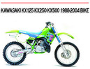 Thumbnail KX125 KX250 KX500 1988-2004 BIKE WORKSHOP REPAIR MANUAL