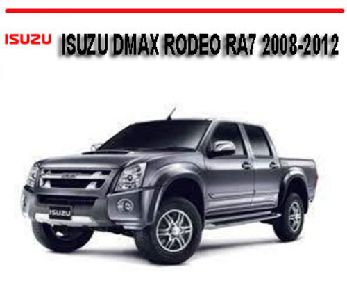 holden colorado isuzu dmax rodeo ra7 2008 2012 repair manual down rh tradebit com 2013 Isuzu KB New Isuzu KB 300