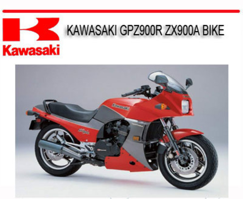 KAWASAKI GPZ900R ZX900A BIKE REPAIR SERVICE MANUAL ...