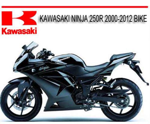 kawasaki ninja 250r 2000 2012 bike repair service manual download rh tradebit com kawasaki ninja 250r service manual ninja 250r service manual pdf download