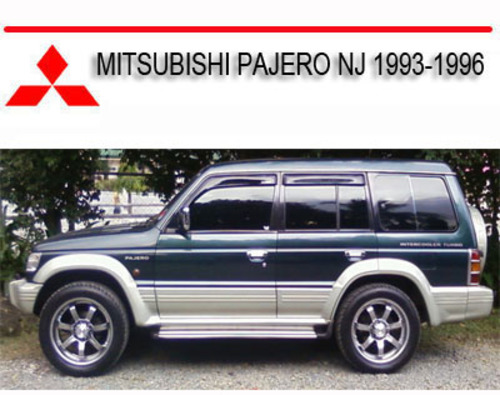 mitsubishi pajero nj 1993 1996 repair service manual download man rh tradebit com 1993 pajero owners manual 1993 mitsubishi pajero owners manual