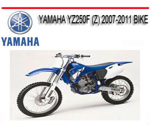 yamaha yz250f z 2007 2011 bike repair service manual. Black Bedroom Furniture Sets. Home Design Ideas
