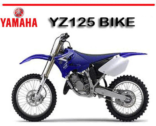 yamaha yz125 bike factory workshop service repair manual. Black Bedroom Furniture Sets. Home Design Ideas