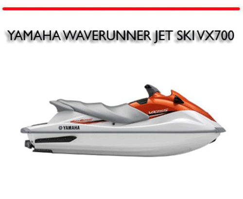 yamaha waverunner jet ski vx700 vx 700 workshop manual download m rh tradebit com