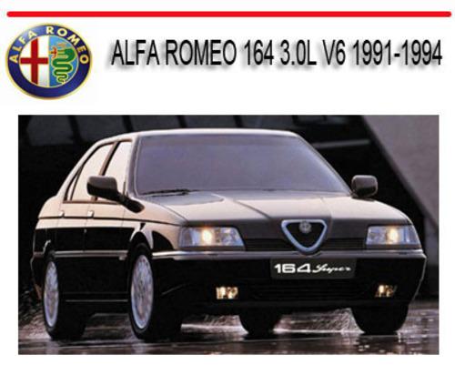 Pay for ALFA ROMEO 164 3.0L V6 1991-1994 REPAIR SERVICE MANUAL