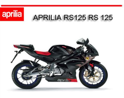 aprilia rs125 workshop service repair manual rs 125 1 download