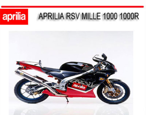 aprilia rsv mille 1000 1000r 1998 2003 bike repair manual downloa rh tradebit com 2006 Aprilia RSV 1000 2006 Aprilia RSV 1000