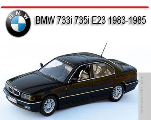 bmw 733i 735i e23 1983 1985 repair service manual. Black Bedroom Furniture Sets. Home Design Ideas