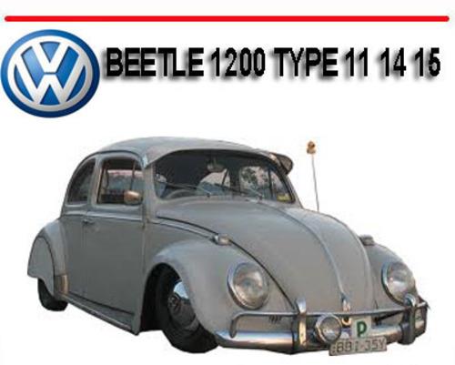 volkswagen vw beetle 1200 type 11 14 15 repair manual download ma rh tradebit com 2000 Volkswagen Beetle 2018 Volkswagen Manual