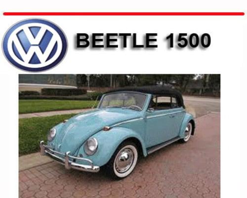 VW VOLKSWAGEN BEETLE 1500 REPAIR & OWNERS MANUAL