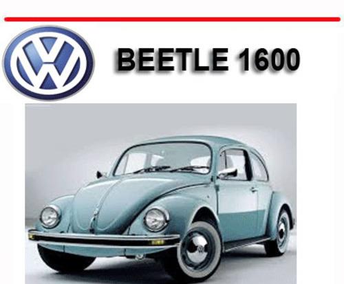 Vw Volkswagen Beetle 1600 Repair  U0026 Owners Manual
