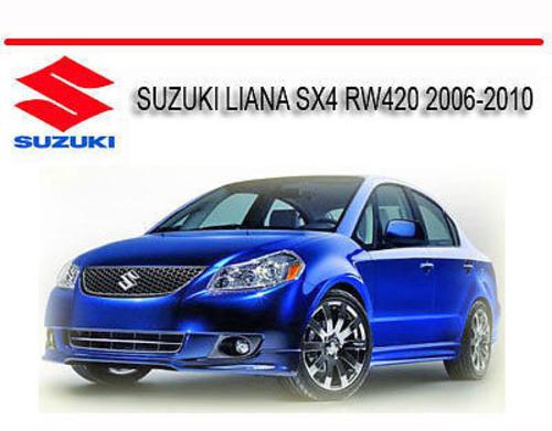 suzuki liana sx4 rw420 2006 2010 workshop repair manual Suzuki SX4 Crossover 2012 Suzuki SX4 Interior