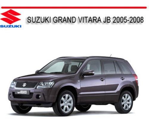 suzuki grand vitara jb 2005 2008 1 6l 2 0l 2 7l v6 manual downloa rh tradebit com 1997 Suzuki Escudo Suzuki X-90