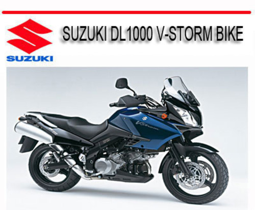 suzuki dl1000 v storm bike repair service manual download manuals rh tradebit com Suzuki Street-Legal Dirt Bikes Suzuki Street-Legal Dirt Bikes