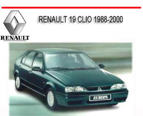 Pay for RENAULT 19 CLIO 1988-2000 REPAIR SERVICE MANUAL