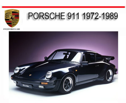 porsche 911t 911s 911sc 1972 1989 repair service manual. Black Bedroom Furniture Sets. Home Design Ideas