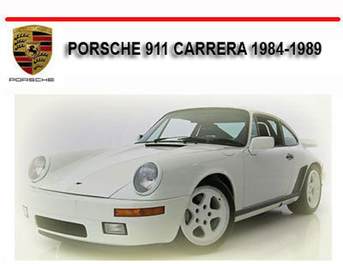 porsche 911 carrera 1984 1989 repair service manual. Black Bedroom Furniture Sets. Home Design Ideas