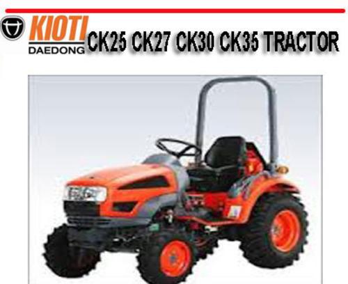 kioti daedong ck25 ck27 ck30 ck35 tractor repair manual download rh tradebit com kioti tractor manual online kioti tractor manual dk35