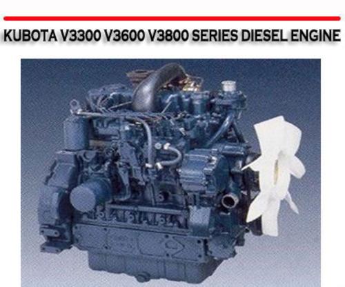 kubota v3300 v3600 v3800 series diesel engine repair manual downl rh tradebit com Kubota V3600-T kubota v3800 engine service manual