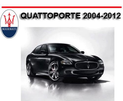 Maserati Quattroporte 2004 2012 Workshop Repair Manual Download M
