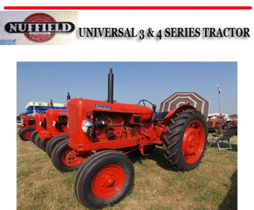 nuffield universal 3 4 series tractor repair manual download ma rh tradebit com Vintage Farm Tractors Vintage Farm Tractors
