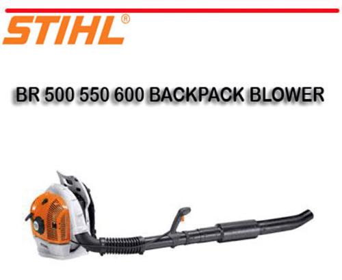 STIHL BR 500 550 600 BACKPACK BLOWER REPAIR MANUAL
