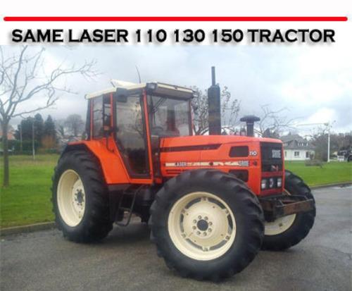 Same Laser 110 130 150 Tractor Repair Owners Manual Tradebit