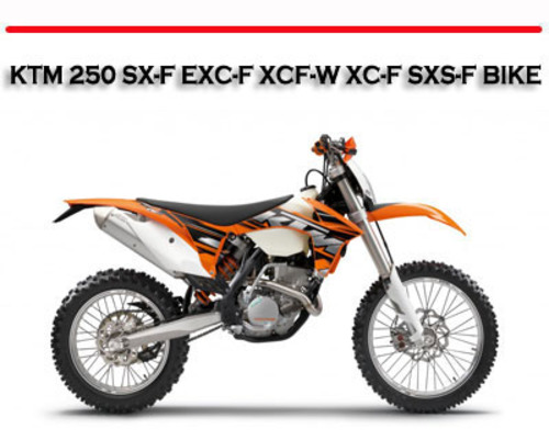 Ktm  Xcf Owners Manual