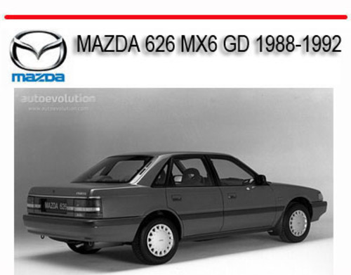 mazda 626 mx6 gd 1988 1992 service repair manual download manuals rh tradebit com Mazda 626 Repair Manual Mazda 6