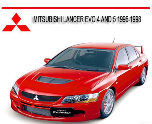 Pay for MITSUBISHI LANCER EVO 4 AND 5 1996-1998 REPAIR MANUAL