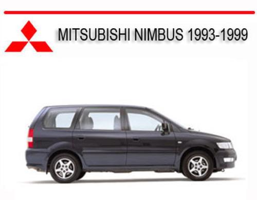 mitsubishi nimbus 1993 1999 repair service manual tradebit rh tradebit com