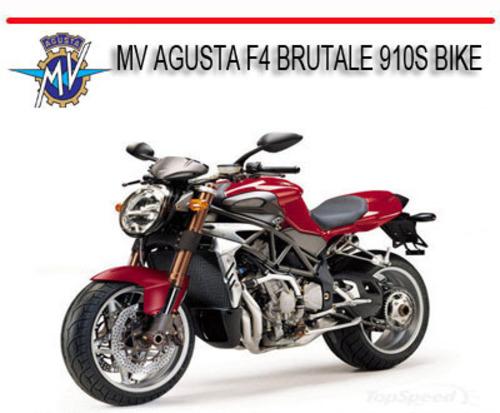 Pay for MV AGUSTA F4 BRUTALE 910S BIKE REPAIR SERVICE MANUAL