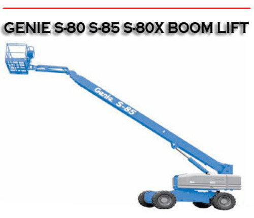 Pay for S-80 S-85 S80-85 S-80X TELESCOPIC BOOM LIFT REPAIR MANUAL