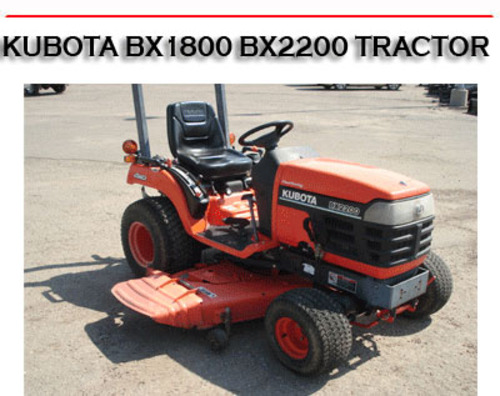Bx1800 Bx2200 Tractor Workshop Service Repair Manual